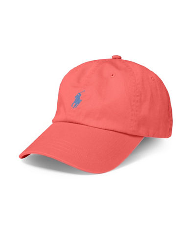 Polo Ralph Lauren Classic Chino Sports Cap-RED-One Size