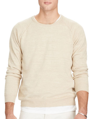 Polo Ralph Lauren Cotton Crew Neck Sweater-SAND-Small