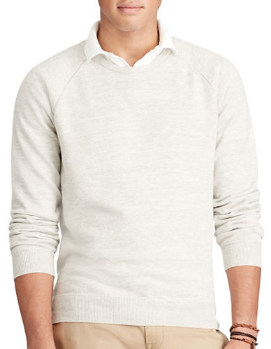 Polo Ralph Lauren Cotton Crew Neck Sweater-DOVE GREY-Medium