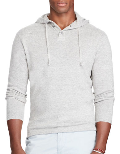 Polo Ralph Lauren Cashmere-Linen Hoodie-GREY-Large