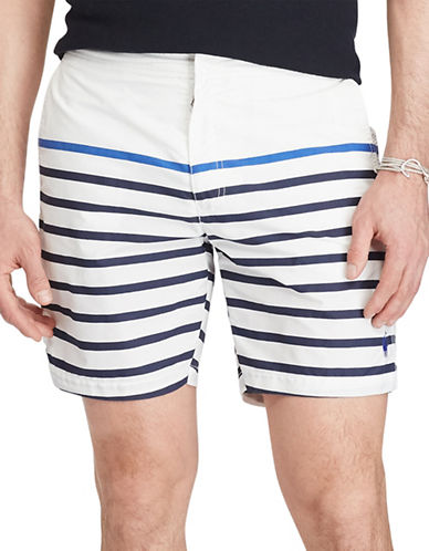 Polo Ralph Lauren Monaco Striped Trunks-WHITE-34
