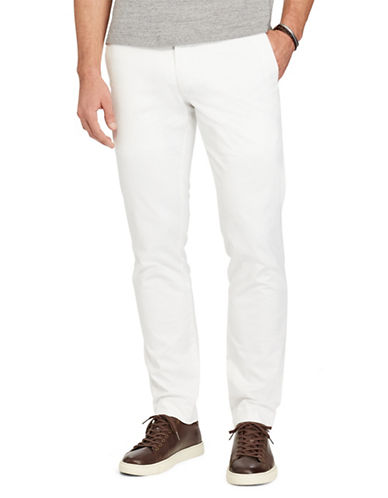 Polo Ralph Lauren Stretch Slim-Fit Chino Pants-WHITE-34X32