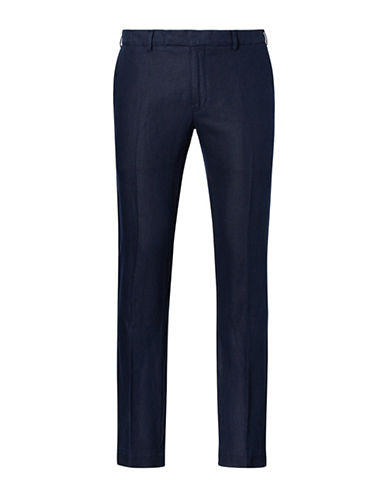 Polo Ralph Lauren Slim Fit Linen Pants-NAVY-38X30