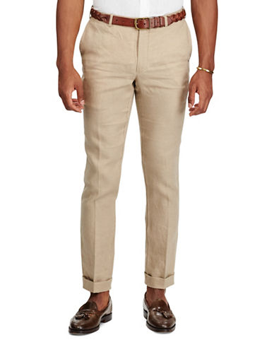 Polo Ralph Lauren Slim Fit Linen Pants-BEIGE-38X32
