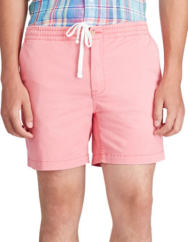 Polo Ralph Lauren Classic Fit Drawstring Short-PALE RED-Small