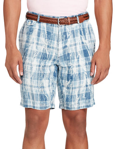 Polo Ralph Lauren Classic Fit Linen Shorts-BLUE-34