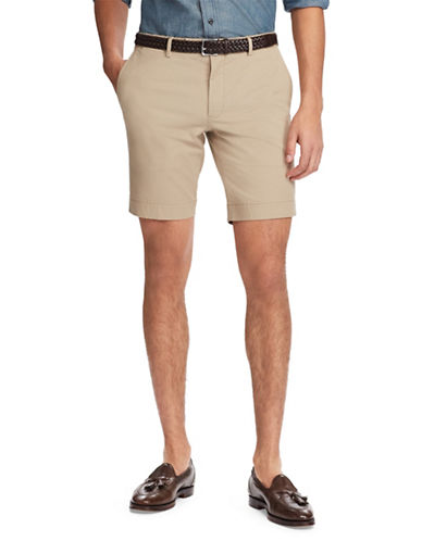 Polo Ralph Lauren Stretch Slim-Fit Chino Shorts-KHAKI BROWN-32