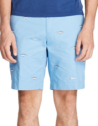 Polo Ralph Lauren Stretch Classic Fit Fish Shorts-BLUE-40