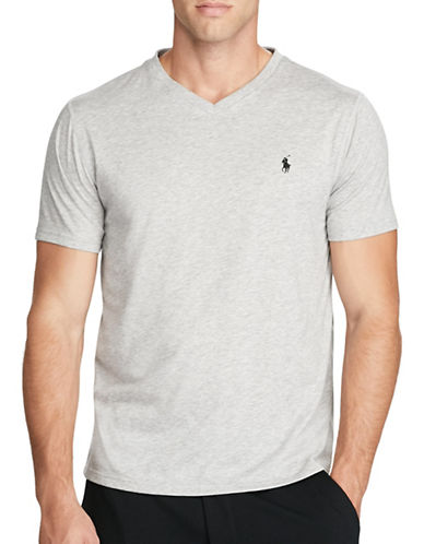 Polo Sport Jersey V-Neck T-Shirt-GREY-X-Large 88916830_GREY_X-Large
