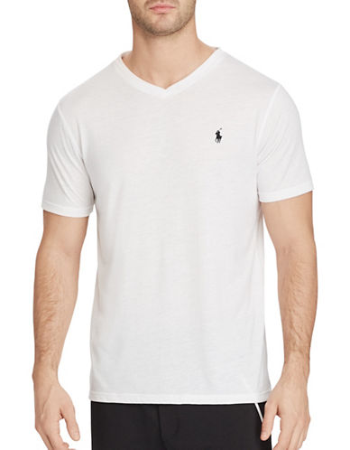Polo Sport Jersey V-Neck T-Shirt-WHITE-Medium 88916833_WHITE_Medium