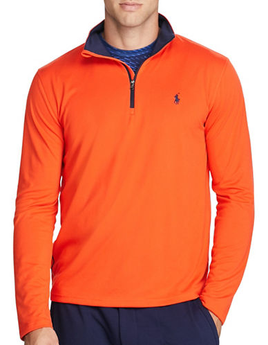Polo Sport Stretch Jersey Pullover-ORANGE-Large 88916867_ORANGE_Large