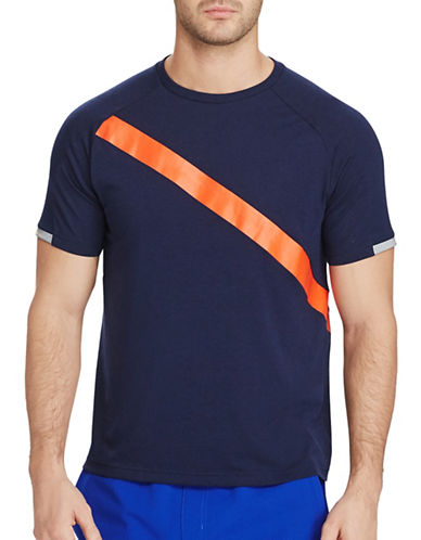 Polo Sport Performance Jersey T-Shirt-NAVY-Large