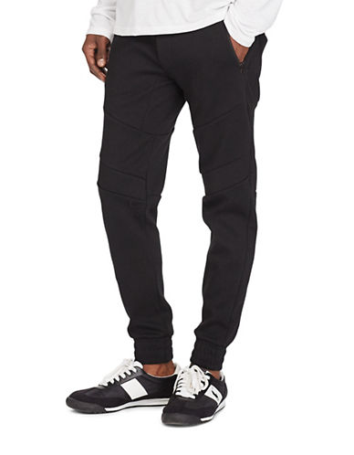 Polo Sport Double-Knit Moto Joggers-POLO BLACK-X-Large 88916990_POLO BLACK_X-Large