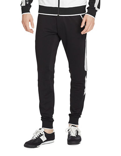 Polo Sport Mesh-Panelled Terry Joggers-POLO BLACK-Small 88917009_POLO BLACK_Small
