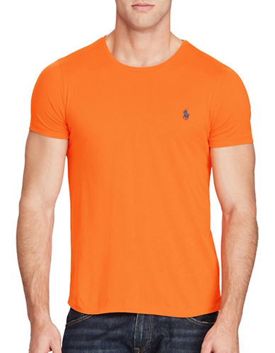 Polo Ralph Lauren Custom Fit Jersey Crew Neck Tee-MAY ORANGE-Medium 88965606_MAY ORANGE_Medium