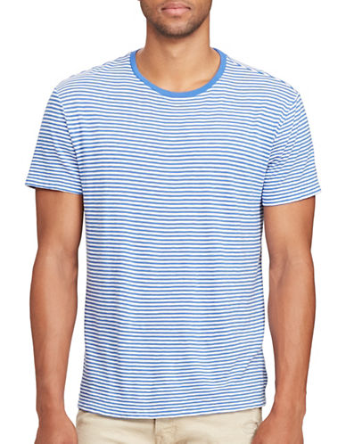 Polo Ralph Lauren Cotton T-Shirt-BLUE/WHITE-Small
