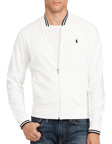 Polo Ralph Lauren Cotton Bomber Jacket-PURE WHITE-Large