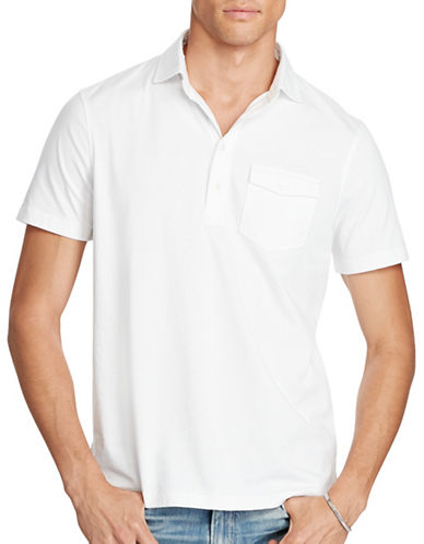 Polo Ralph Lauren Hampton Cotton Lisle Shirt-WHITE-Small