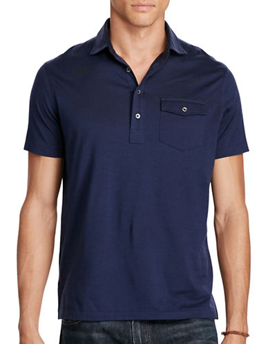 Polo Ralph Lauren Hampton Cotton Lisle Shirt-FRENCH NAVY-Small