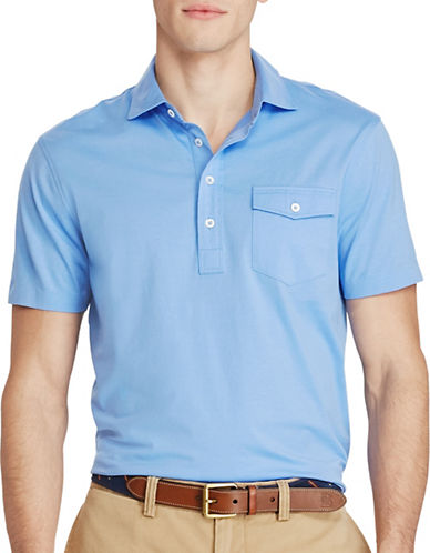 Polo Ralph Lauren Hampton Cotton Lisle Shirt-BLUE-Small