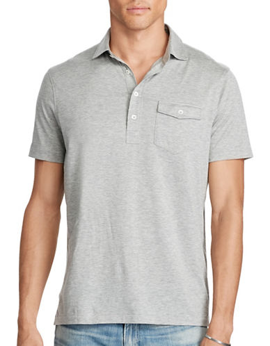 Polo Ralph Lauren Hampton Cotton Lisle Shirt-ANDOVER HEATHER-Medium