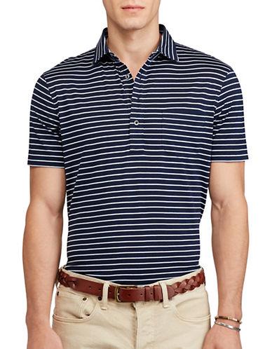Polo Ralph Lauren Hampton Striped Cotton Shirt-BLUE-XX-Large