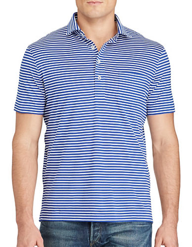 Polo Ralph Lauren Hampton Striped Cotton Shirt-BLUE/WHITE-Small