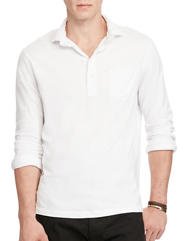 Polo Ralph Lauren Cotton Jersey Popover-WHITE-Large