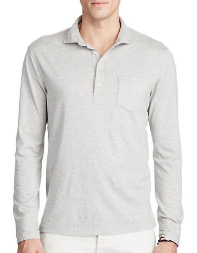 Polo Ralph Lauren Cotton Jersey Popover-GREY-XX-Large 88963353_GREY_XX-Large