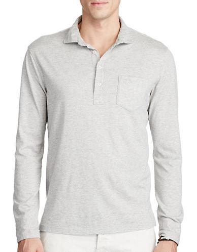 Polo Ralph Lauren Cotton Jersey Popover-GREY-XX-Large
