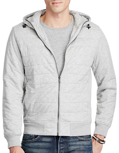 Polo Ralph Lauren Quilted Jersey Full-Zip Hoodie-GREY-Small 88963356_GREY_Small