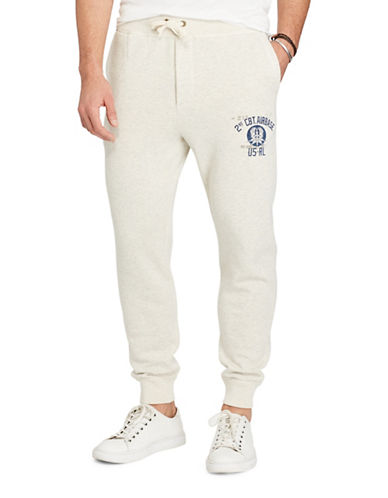 Polo Ralph Lauren Cotton-Blend Graphic Joggers-GREY-Small 88963386_GREY_Small