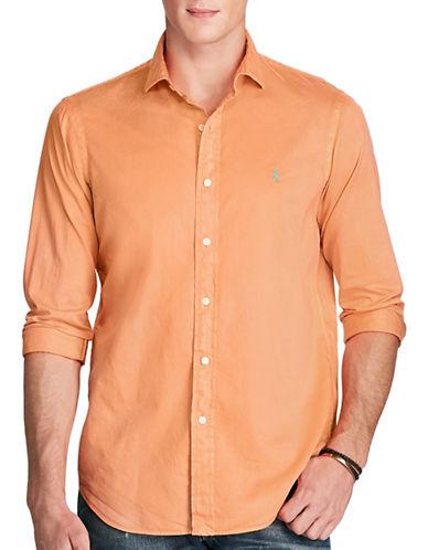 Polo Ralph Lauren Standard Fit Beach Twill Shirt-ORANGE-Small
