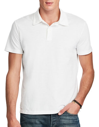 Polo Ralph Lauren Cotton Mesh Polo-DOCKWASH WHITE-Small