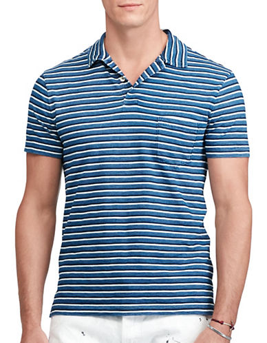Polo Ralph Lauren Striped Cotton Polo-MEDIUM INDIGO-XX-Large
