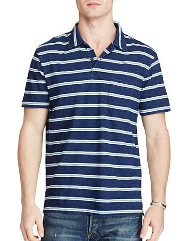 Polo Ralph Lauren Striped Cotton Polo-DARK INDIGO-XX-Large