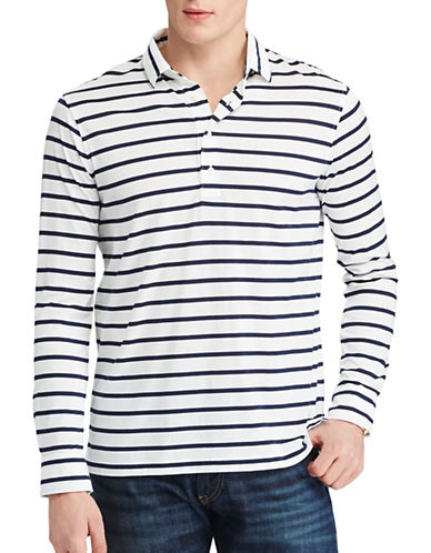 Polo Ralph Lauren Striped Cotton Jersey Popover-BLUE-Medium
