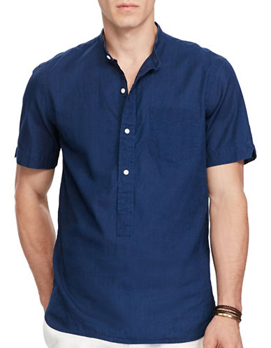 Polo Ralph Lauren Standard-Fit Cotton Shirt-INDIGO-Medium