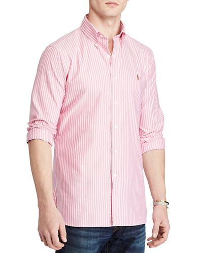 Polo Ralph Lauren Standard Fit Cotton Shirt-PINK/WHITE-X-Large
