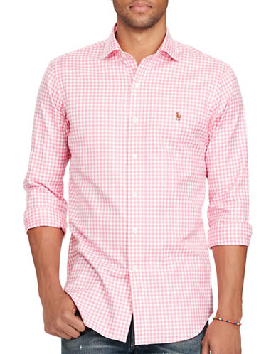 Polo Ralph Lauren Gingham Oxford Estate Shirt-PINK/WHITE-X-Large