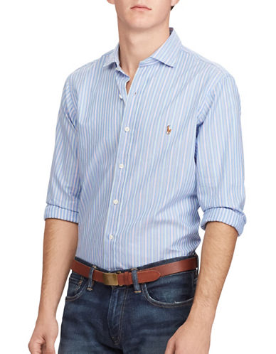 Polo Ralph Lauren Multi-Striped Oxford Estate Shirt-BLUE/GREEN-Medium