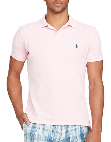 Polo Ralph Lauren Classic Fit Weathered Mesh Polo-CARMEL PINK-Large