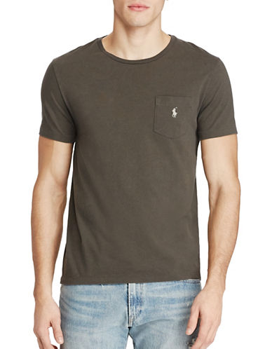 Polo Ralph Lauren Cotton Jersey Pocket Tee-BLACK-Small 88965850_BLACK_Small