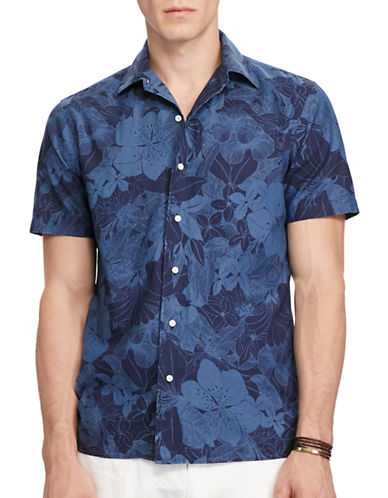 Polo Ralph Lauren Floral Cotton Sport Shirt-BLUE TROPICAL-Medium