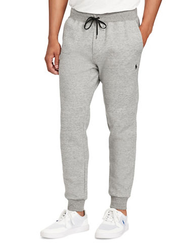 Polo Ralph Lauren Double-Knit Joggers-GREY-XX-Large