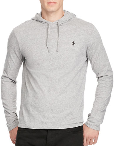 Polo Ralph Lauren Cotton Jersey Hooded T-Shirt-GREY-Small 88963528_GREY_Small