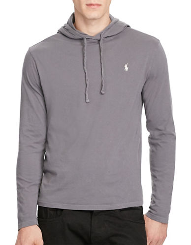 Polo Ralph Lauren Cotton Jersey Hooded T-Shirt-GREY-Large 88963531_GREY_Large