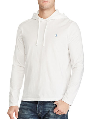Polo Ralph Lauren Cotton Jersey Hooded T-Shirt-WHITE-X-Large 88963544_WHITE_X-Large