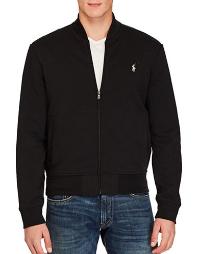 Polo Ralph Lauren Double-Knit Bomber Sweater-POLO BLACK-Small