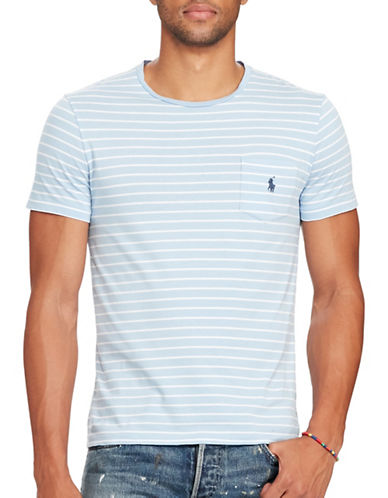 Polo Ralph Lauren Striped Jersey Pocket Tee-BLUE/WHITE-Small 88964234_BLUE/WHITE_Small
